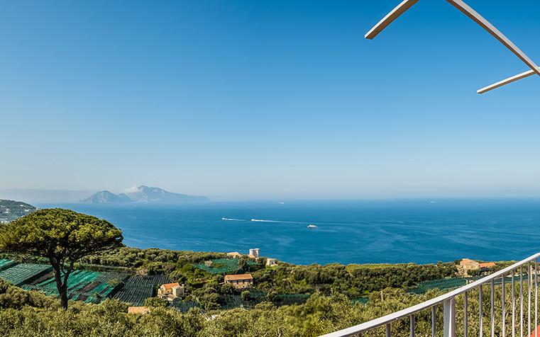 Camera Capri Agriturismo vista panoramica di Capri